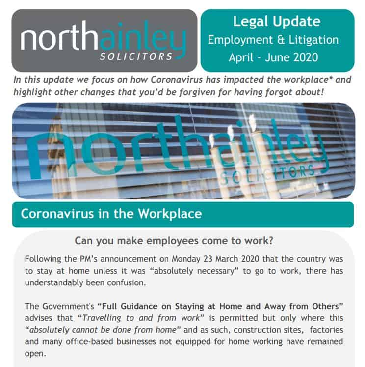 Legal update from our Employment & Litigation team