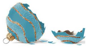 broken bauble turquoise